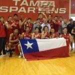 Selección chilena de básquetbol logra nuevo triunfo en gira por Estados Unidos