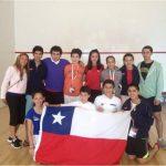 Cuatro medallas logró delegación chilena en el Sudamericano Junior de Squash
