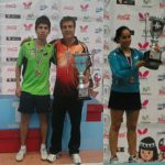 Paulina Vega y Gustavo Gómez se coronan campeones del Nacional Todo Competidor de Tenis de Mesa