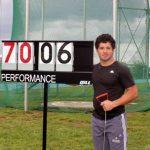 Hevertt Álvarez rompe nuevamente el récord chileno juvenil del lanzamiento de martillo