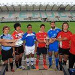 Capitanes de las selecciones del Junior World Rugby Trophy se reunieron en el estadio Germán Becker