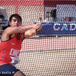 Humberto Mansilla rompe record nacional de lanzamiento de martillo categoría menores