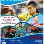 Este miércoles 14 comienza la Copa América de Tenis de Mesa en San Miguel
