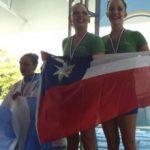 Duetos de Stadio Italiano lograron medallas de oro en el Panamericano de Nado Sincronizado