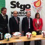 Este viernes se presentaron los balones oficiales de los Juegos Sudamericanos Santiago 2014