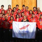 Presidenta de la República recibió a medallistas de Juegos Santiago 2014