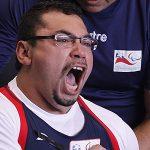 Juan Carlos Garrido terminó en el quinto lugar del Mundial de Pesas Paralímpico