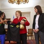"Presidenta de la República se reunió con campeona mundial de boxeo Carolina ""Crespita"" Rodríguez"