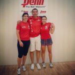 Ángela Grisar y Carla Muñoz lograron medalla de bronce en el Mundial de Racquetball