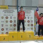 Chile suma siete oros en el Sudamericano de Menores y Veteranos de Esgrima