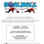 Clínica de Goalball se llevará a cabo este 11 de octubre