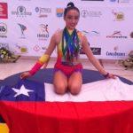 Kassandra Guzmán brilló con dos medallas de oro en Sudamericano de Gimnasia Rítmica