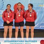 Chile se coronó subcampeón sudamericano de Tenis de Mesa