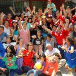 Minista Riffo y deportistas regalaron una navidad deportiva a los niños del Hospital Luis Calvo Mackenna