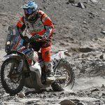 Pablo Quintanilla se quedó con el cuarto lugar en motos por la sexta fecha del Dakar