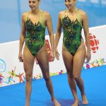 Natalie Lubascher y Kelley Kobler debutaron en Toronto con un noveno lugar en nado sincronizado