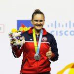 Pesista María Fernanda Valdés entrega la segunda medalla de plata para Chile en Toronto