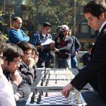 Cristóbal Henríquez participó en simultánea de ajedrez organizada por el Mindep
