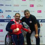 Pesista Juan Carlos Garrido gana medalla de bronce en Hungría