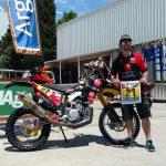 Daniel Gouet se alista para la largada del Rally Dakar 2016
