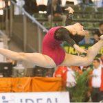 Simona Castro ocupó el cuarto lugar en la final de suelo en Cottbus