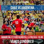 Chile recibe este sábado a Argentina por la Sudamerica Rugby Cup