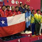 Equipo de sable masculino gana medalla de plata en el Sudamericano Menores de Esgrima