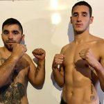Julio Alamos y Luis Garay realizaron el pesaje previo a velada de boxeo en el Club México