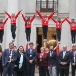 Presidenta de la República recibió a la Roja campeona del mundo de Cheerleading