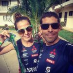 Felipe Van de Wyngard y Pamela Tastets realizaron una buena actuación en el Ironman 70.3 de Costa Rica