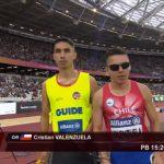 Cristián Valenzuela terminó quinto en los 1500 metros del Mundial de Atletismo Paralímpico