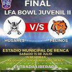 Húsares y Felinos definirán al campeón Sub 21 de la Liga Football Americano LFA Chile