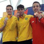 Martín Valdivieso e Inés Marín ganaron bronce en la natación de los Juegos Suramericanos de la Juventud