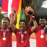Equipo chileno masculino de tiro skeet se lleva la medalla de oro en los Juegos Bolivarianos