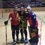 Catalina Flores y Francisca Puertas jugaron en combinado mundial de hockey patín que enfrento a la Selección Femenina de Cataluña