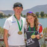 Vicente Trewhela y Gabriela Cerda fueron los ganadores del Triatlón Piedra Roja 2017