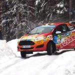 Emilio Fernández y Joaquín Riquelme terminaron octavos en primer día de la fecha sueca del Mundial de Rally Junior