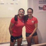 Carla Muñoz y Josefa Parada ganan medalla de bronce en el dobles femenino del Panamericano de Racquetball