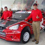 Team Rosselot presentó el Mitsubishi Mirage con el que participarán en el RallyMobil