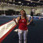 Arantza Inostroza gana medalla de plata en la esgrima de los Juegos Sudamericanos
