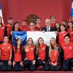En La Moneda se realizó la despedida oficial a la delegación chilena que disputará los Juegos Sudamericanos