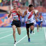 Carlos Díaz se quedó con la medalla de oro en los 1500 metros planos del atletismo en Cochabamba
