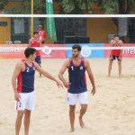 Primos Grimalt debutaron con un triunfo en el volleyball playa de los Juegos Sudamericanos