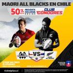 """Comenzó la preventa de entradas para el partido entre los """"Cóndores"""" y los Maori All Blacks"""