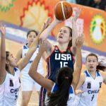 Chile cayó ante USA en la segunda jornada del Premundial U18 de Básquetbol Femenino
