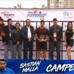 Bastián Malla se tituló campeón del Futuro 2 de Perú