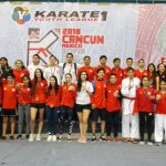Selección Chilena de Karate terminó sexta en la K1 Youth League de Cancún-Quintana Roo
