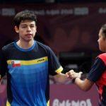 Nicolás Burgos cayó en octavos de final por equipos mixtos en el tenis de mesa de los Juegos Olímpicos de la Juventud