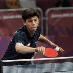 Nicolás Burgos avanzó a octavos de final por equipos mixtos en el tenis de mesa de los Juegos Olímpicos de la Juventud