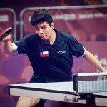 Nicolás Burgos clasificó a octavos de final del tenis de mesa en los Juegos Olímpicos de la Juventud